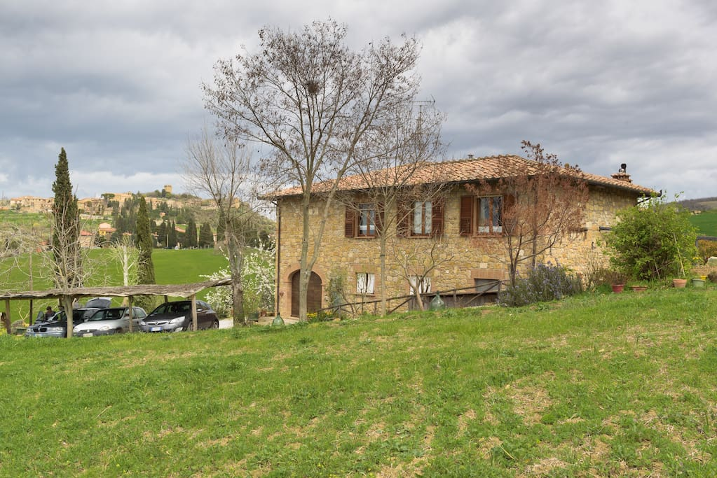 my house coming from the Val d'Orcia
