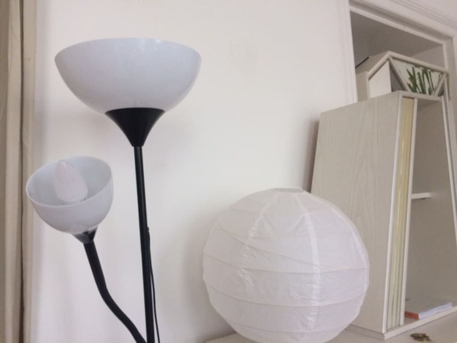 This lamp is the main source of lighting at night. One lightbulb is very bright, the other one is more dim so you can choose which mood you'd like to set :)
