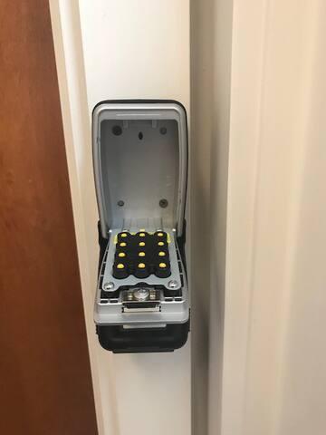 Apartment Door Key Box - Open