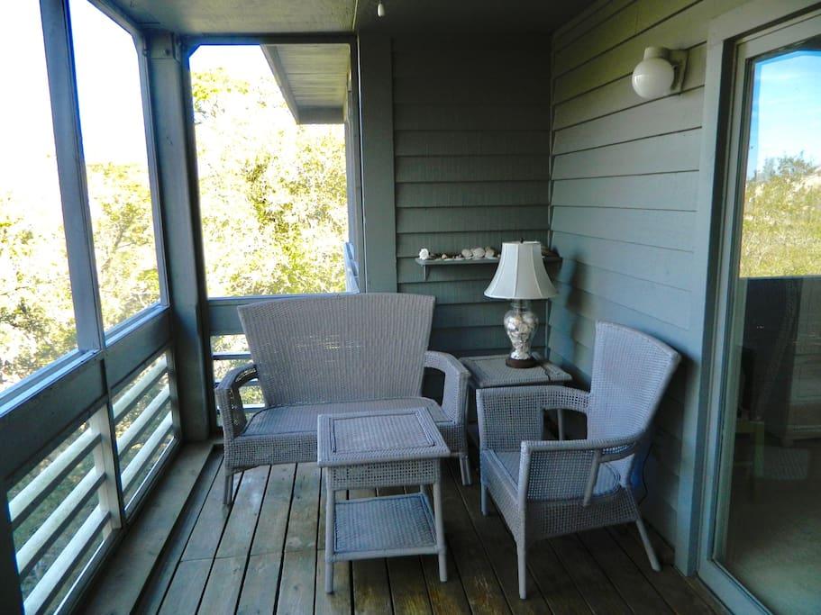 Porch off living room