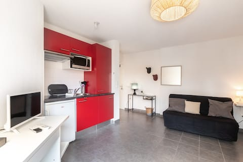 Nice studio near tramway and Toulouse center