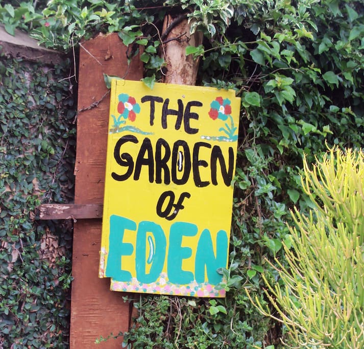 The Cottage is within the 'Garden of Eden'
