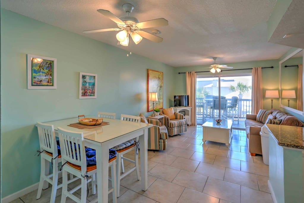 A vibrant, free flowing design with tile floors welcomes you upon entering your Fernandina Beach home-away-from-home.