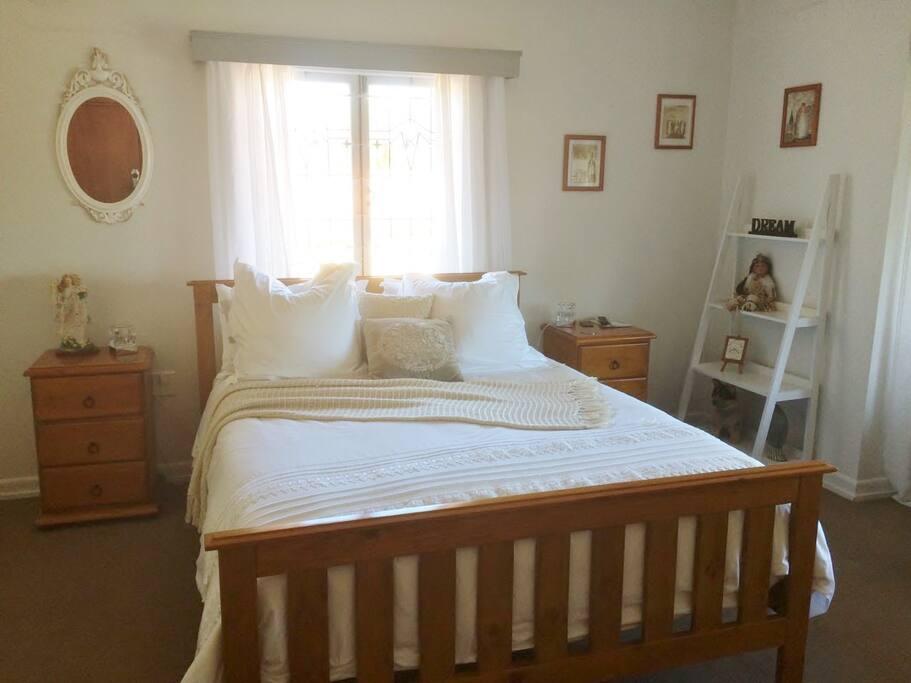 Your queen bed has a luxurious mattress & quality linen