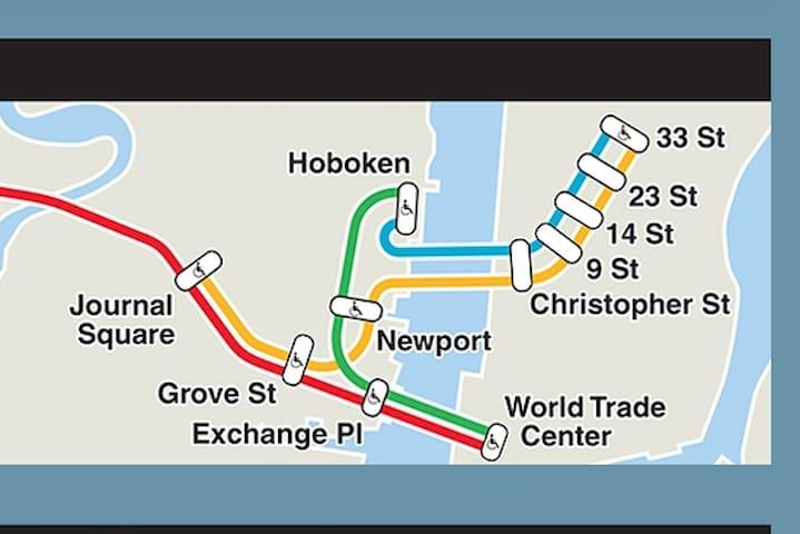 Three stops from Manhattan