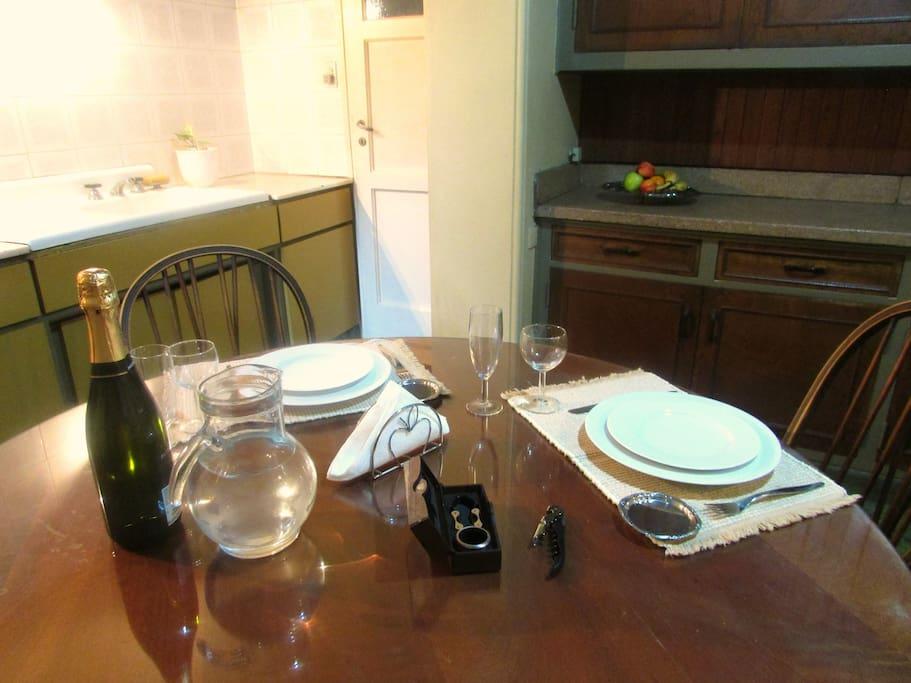 Una agradable cena en la cocina - comedor 1