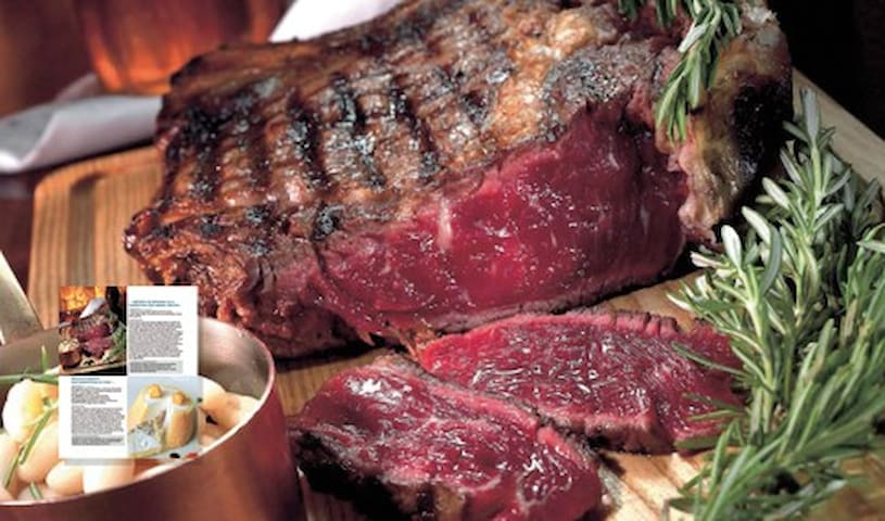 Bistecca Fiorentina our typical steak. We have for u a discount in a famous restaurant, ask to us!