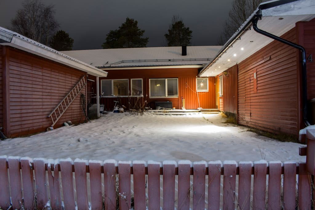 House outside - winter time