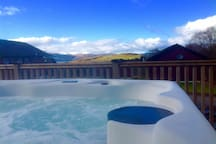 View from the private hot tub