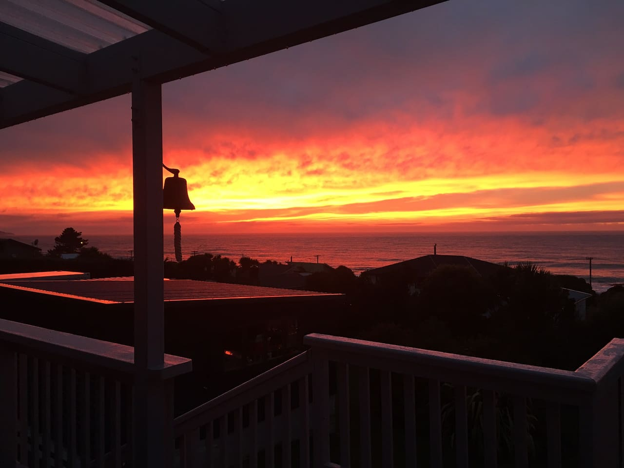 Sunrise from the deck