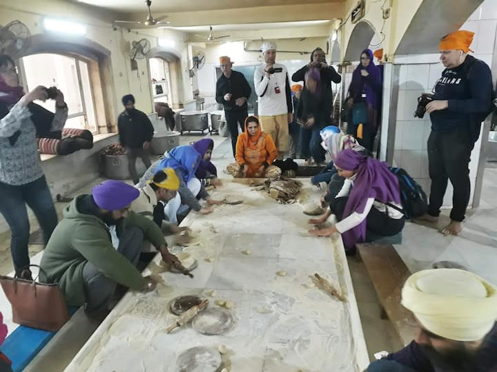 Doing Seva at Langar (Bangla Sahib)