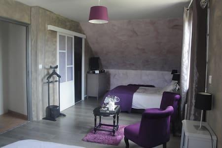 Chambre famiale Margaux avec accès piscine - Brugny-Vaudancourt