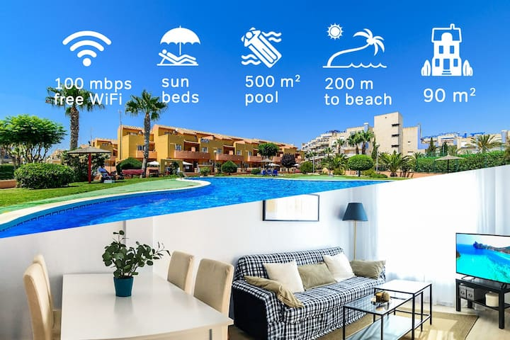 2017 refreshed 3-bedroom with pool next to the sea - Orihuela
