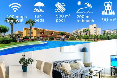 2017 refreshed 3-bedroom with pool next to the sea - Orihuela - Haus