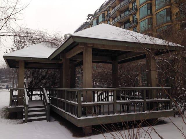 雪中的双子亭