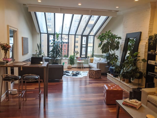 Sharing our historical loft for a month
