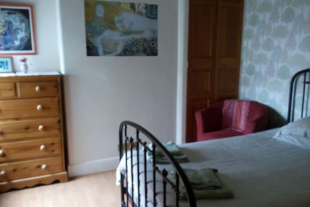 Sunny, light double bedroom in beautiful house