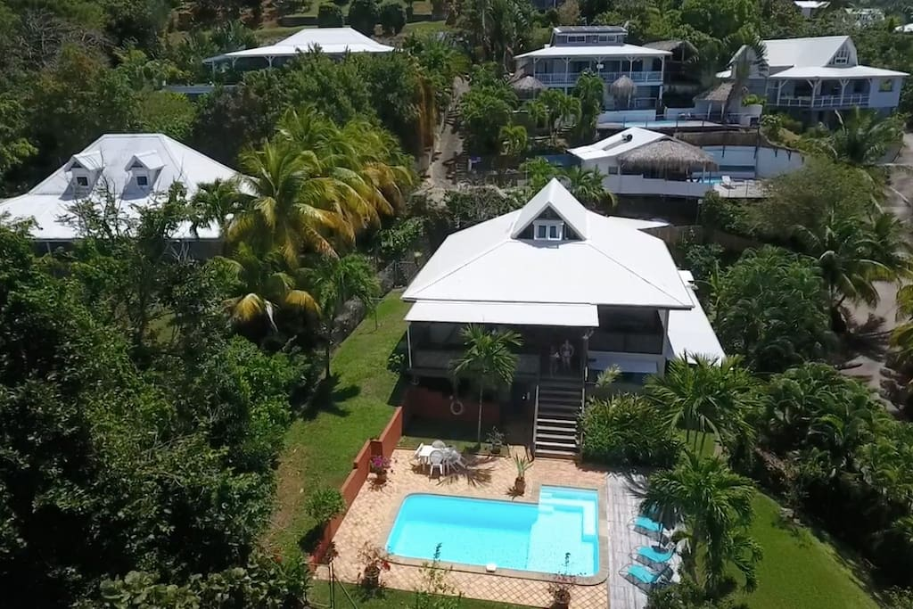 Villa is 80 steps from beach