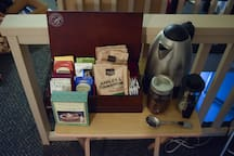 breakfast, coffee, tea, and hot chocolate are also provided