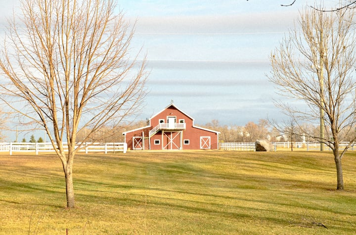 The Red Barn Loft in the Heartland of the Prairies