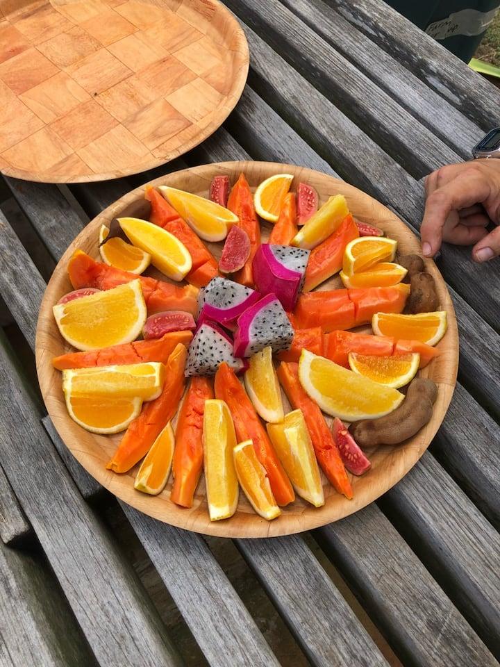 Farm fruit picnic