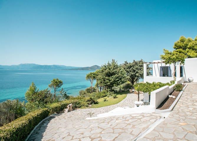 Unique Beachfront Aegean Style Villa