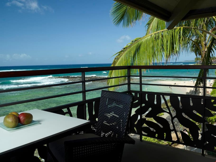 The stunning ocean view will energize you in the morning before you head out on your adventure