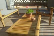 momento di relax in terrazza