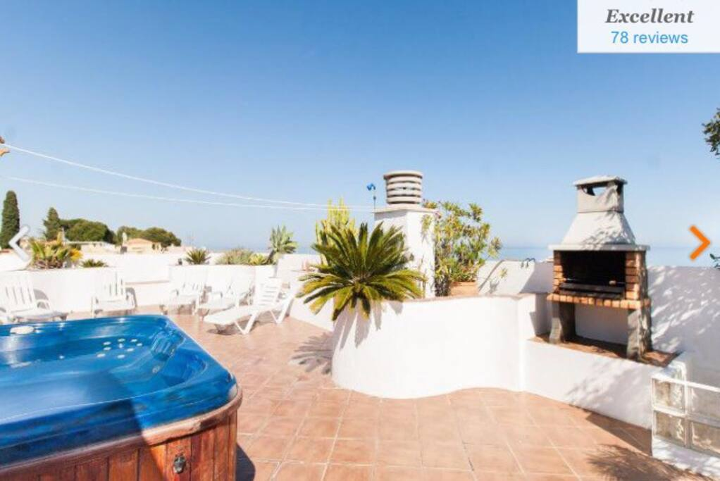 We are constantly improving you can see Jacuzzi / Barbecue etc 120 square Metres in Total