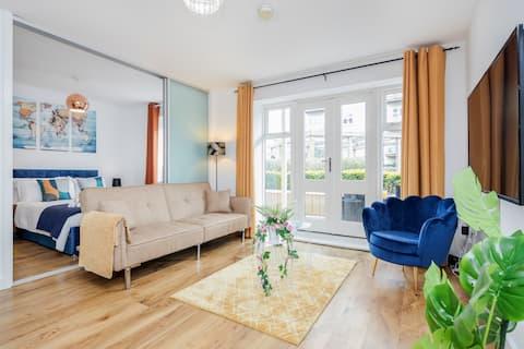 Luxus apartman a Heathrow/Stockley Park közelében.