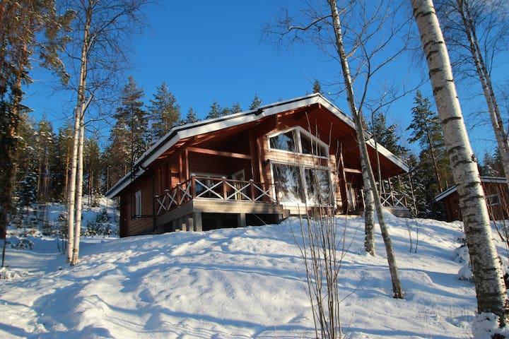 Villa Kukka log house near lake,free wifi - Juva