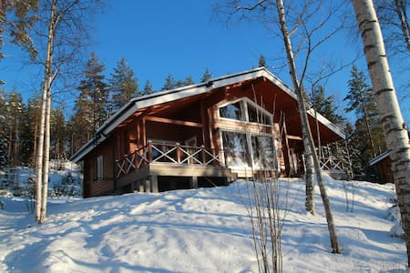 Villa Kukka log house near lake,free wifi - Juva