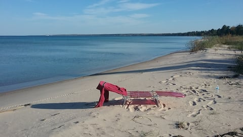 Scenic Huron Beach by Mackinaw City-Cheboygan