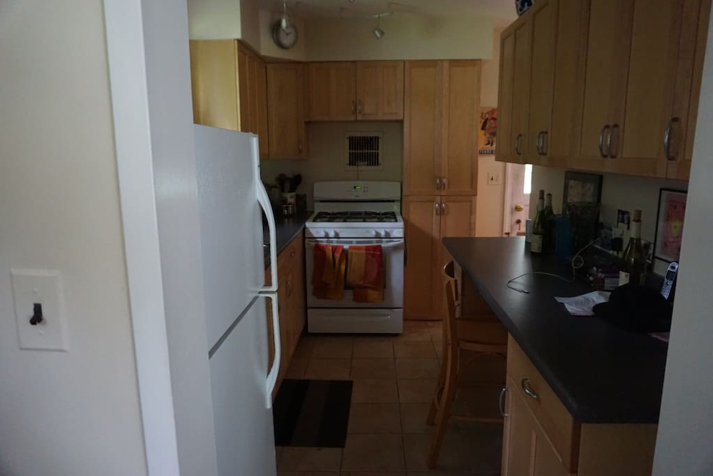Nespresso, microwave, dishwasher, oven/stovetop
