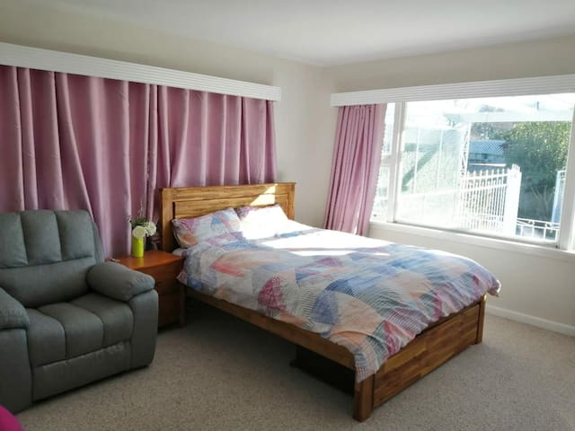Sunny, spacious and affordable master bedroom