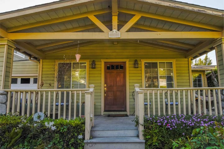 ☀️2/2 Sunny Silver Lake Bungalow +Parking+Yard+W/D