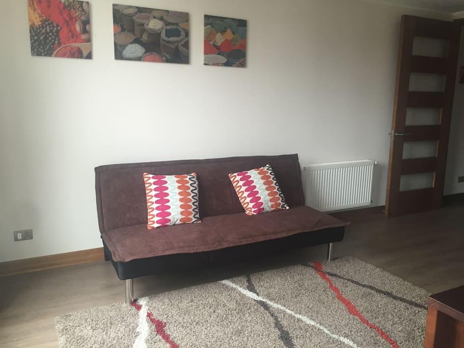 Living con futón