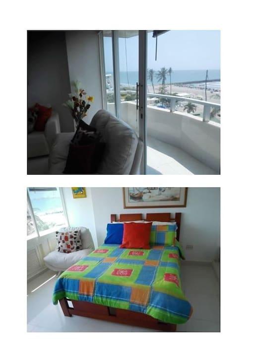 espectacular balcón con vista a la playa