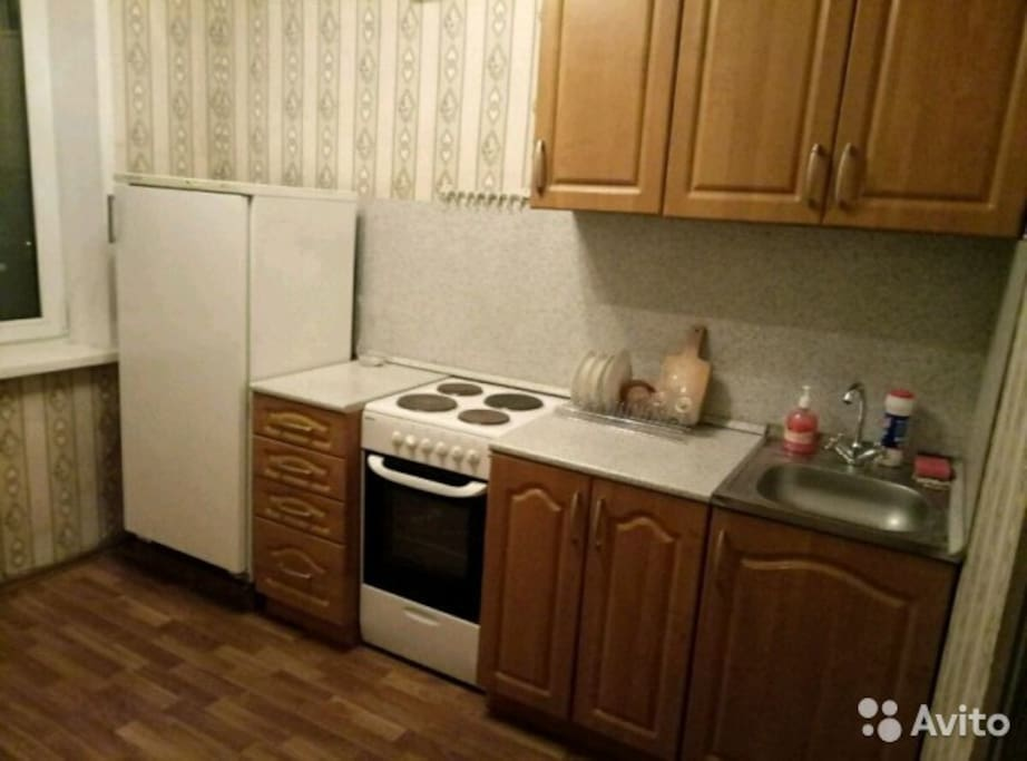 Кухня оборудована всем необходимым для проживания