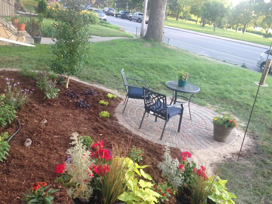 New patio and garden
