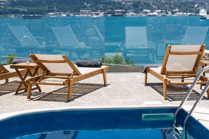 The pool terrace is equipped with sun beds , so you can relax all day long  enjoying the Cretan sun!