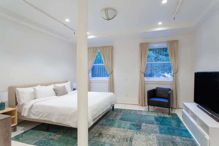 Archbishop's Mansion | Basement Guest Room | 1 Bed