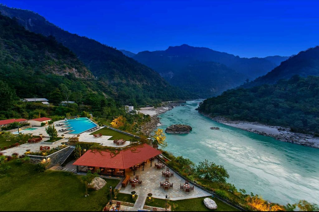 Beautiful view of Pristine Ganges river.