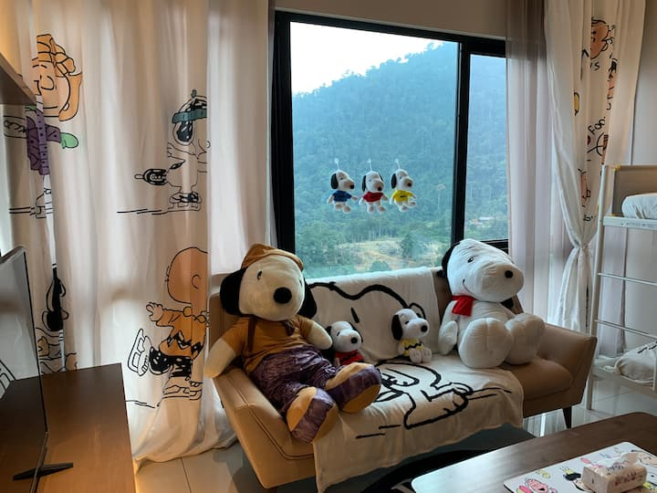 Snoopy Family  Studio Unit Genting Highland Abnb