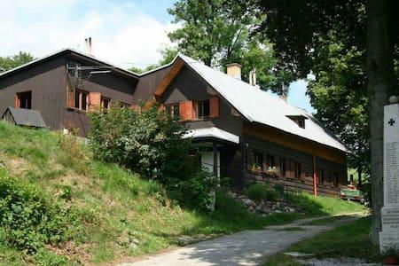 Pohodová chalupa s farmou ideální pro kolo i děti - Vítkovice - Chalet
