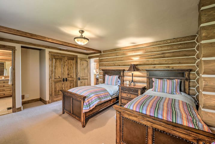 Bedroom 3 with authentic cozy cabin decor.