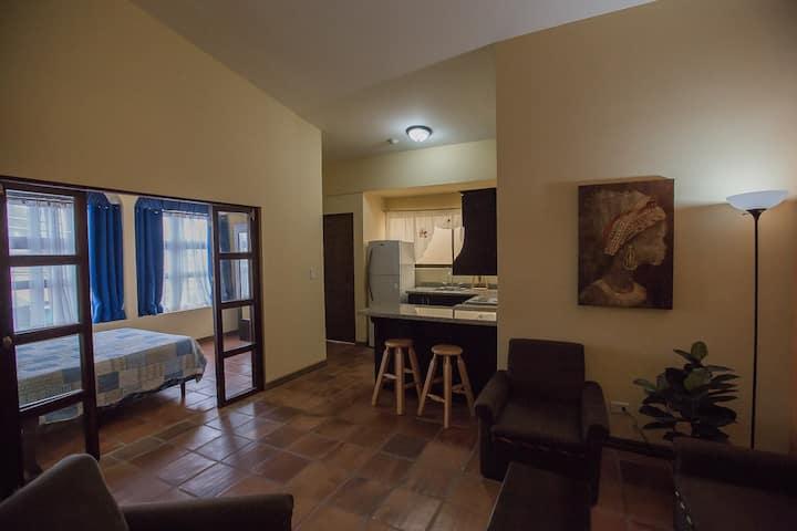 New, light airy 1 bedroom w/ roof terrace (apt 2)