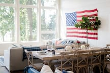 Lakefront Home Living / Dining area