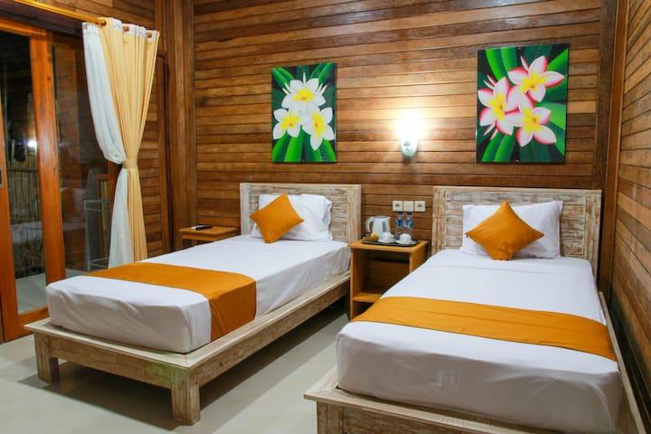 Twin Share Room @D'Tegal House Nusa Lembongan