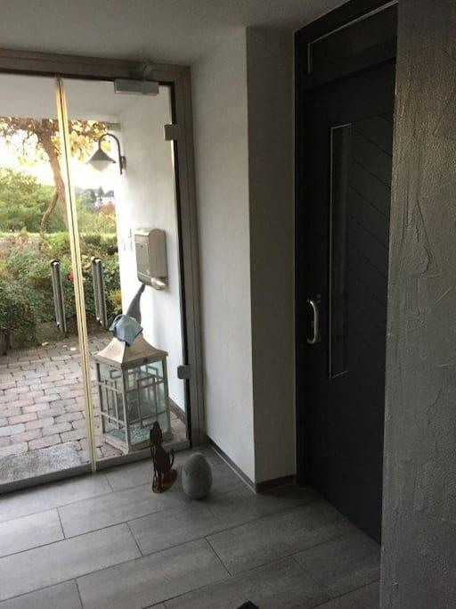 Der Eingangsbereich mit separatem Zugang
